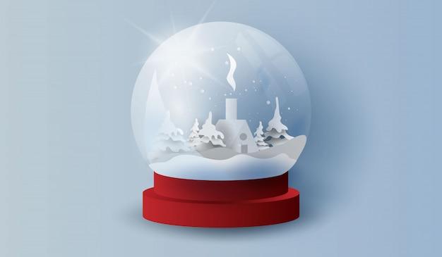 Поздравляю с новым годом и рождеством. Premium векторы