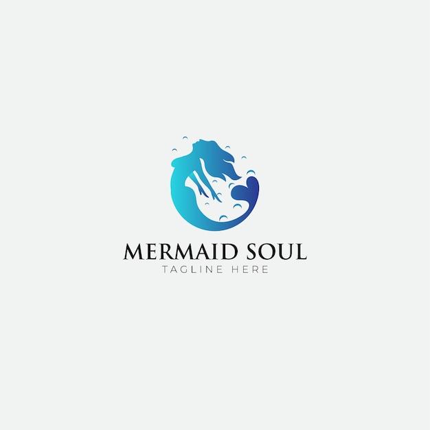 Русалка душа логотип Premium векторы