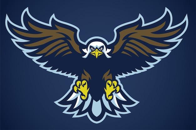 Орел расправил крылья Premium векторы