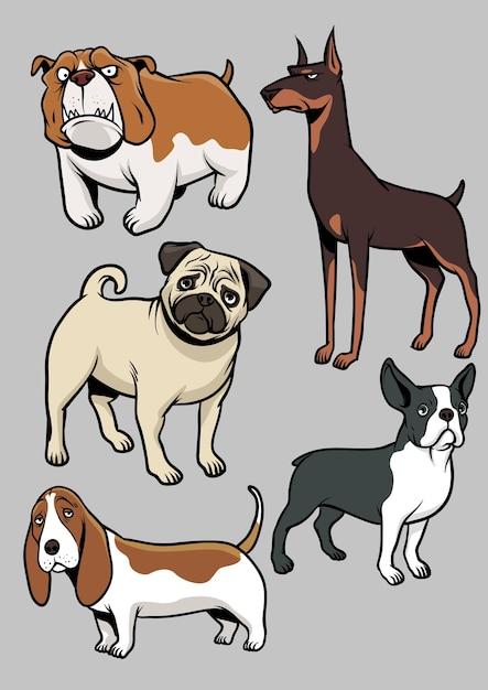 犬のベクトルコレクション Premiumベクター