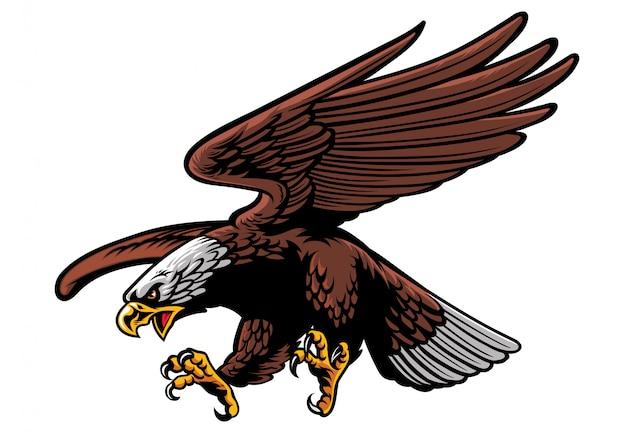 Орел атакующий Premium векторы