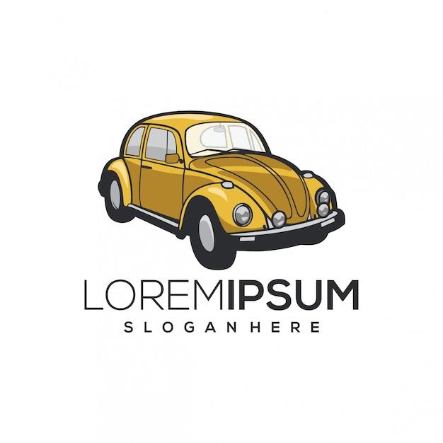 Авто жук логотип Premium векторы