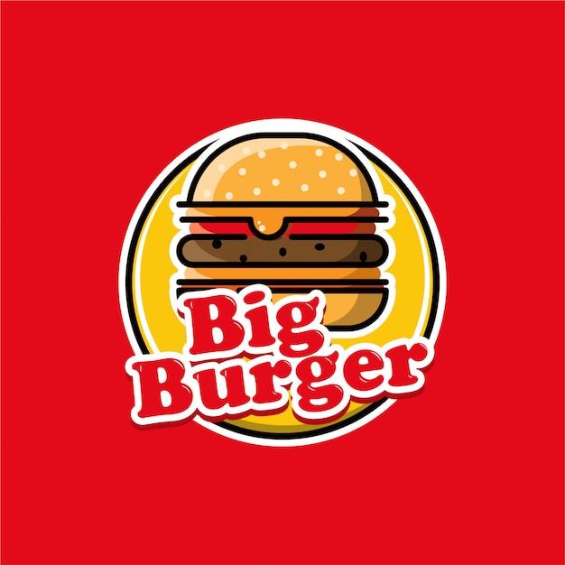 ビッグバーガーのロゴ Premiumベクター
