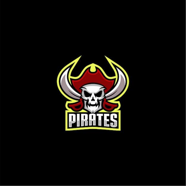 Пираты дизайн логотипа вектор Premium векторы