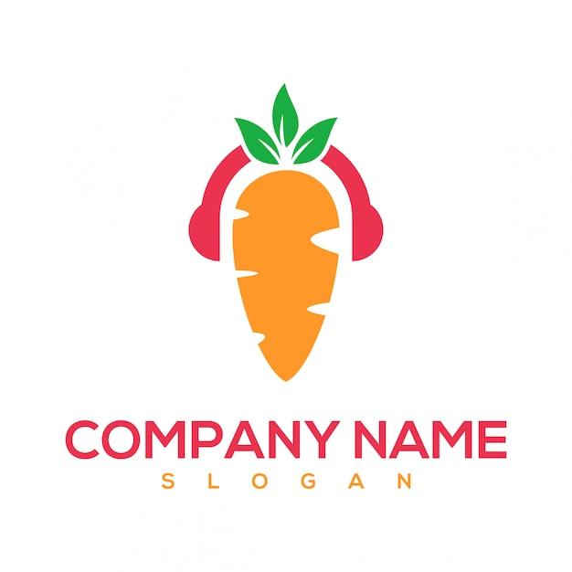 キャロットミュージックのロゴ Premiumベクター