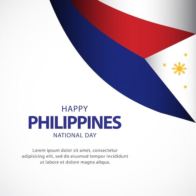 День независимости филиппин векторный шаблон Premium векторы