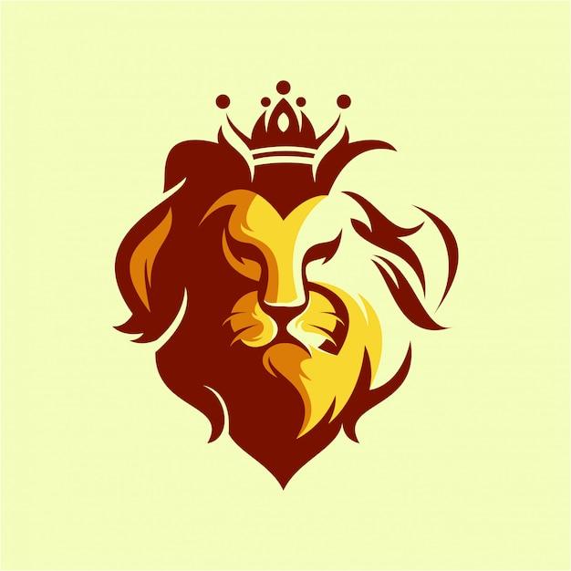 ヘッドライオンのロゴ Premiumベクター