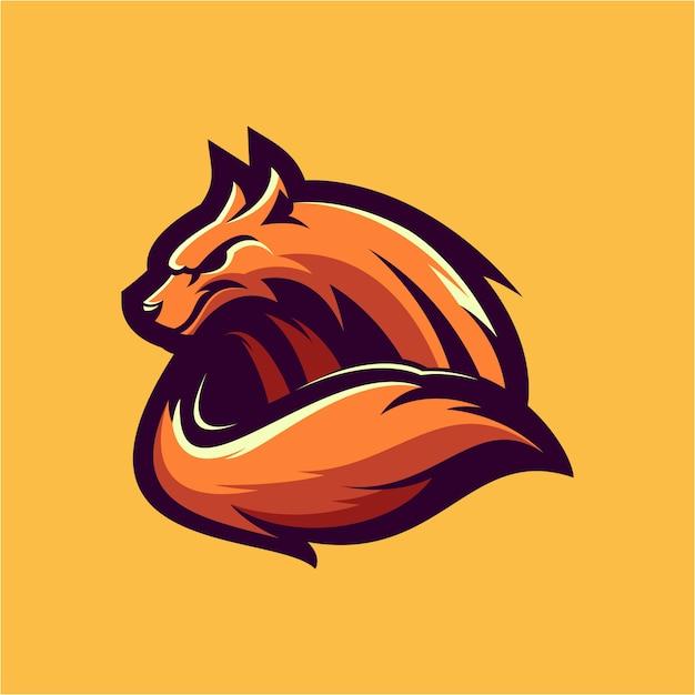 オオカミのロゴ Premiumベクター
