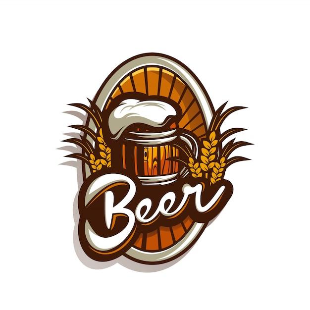 Потрясающий логотип пива Premium векторы