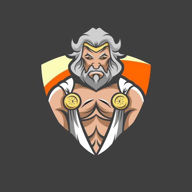 Зевс логотип иллюстрации Premium векторы