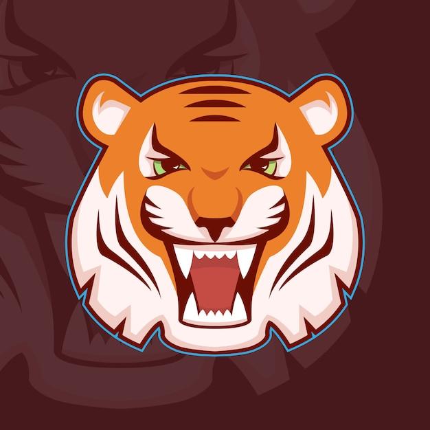 Голова тигра Premium векторы