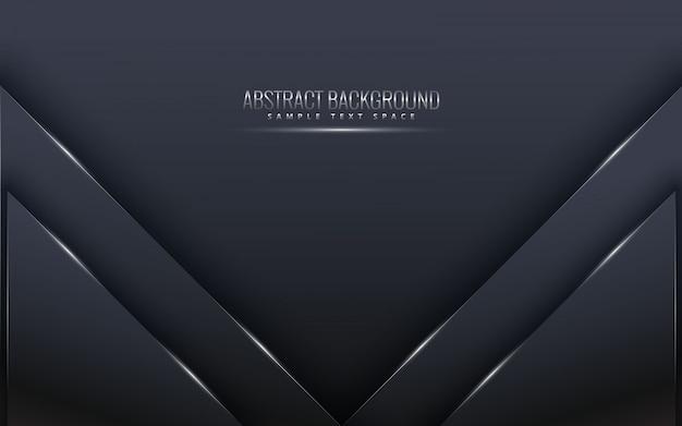 豪華な暗いと黒のプレミアム背景。高級シルバープラチナラインベクトル。 Premiumベクター