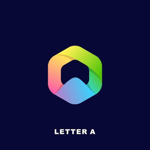 モダンなカラフルな文字ロゴプレミアム Premiumベクター