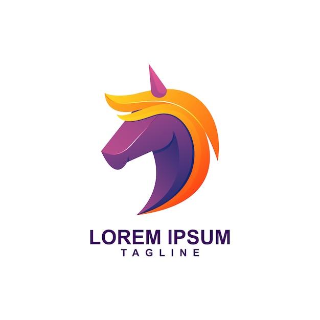 Модерн цвет единорог логотип премиум Premium векторы