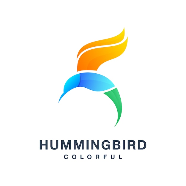ハミングバードのカラフルなベクトル Premiumベクター