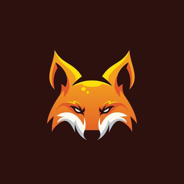 Потрясающая голова лисы Premium векторы