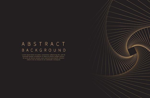 抽象的な背景ゴールデンラインウェーブ Premiumベクター