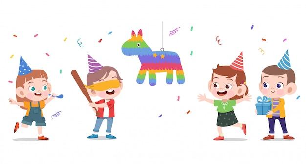 幸せな子供の誕生日 Premiumベクター