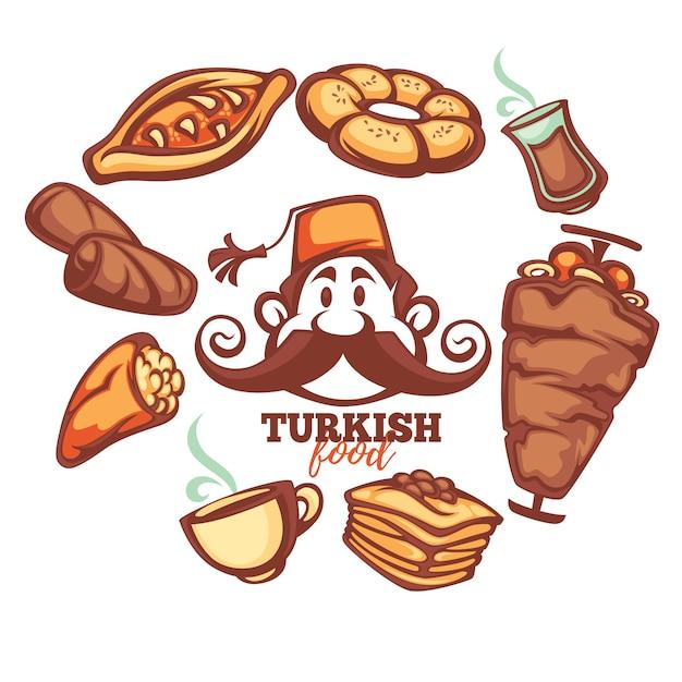 トルコ料理セット Premiumベクター