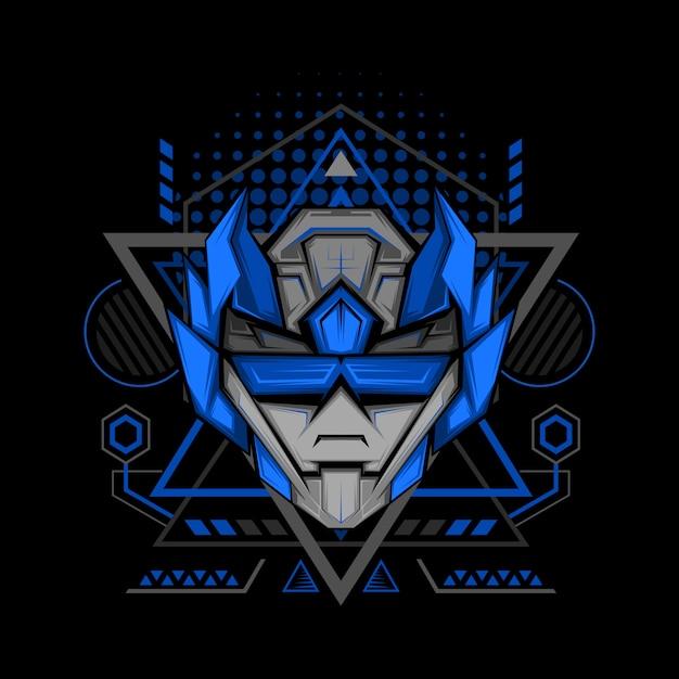 Стиль геометрии темно-синего рейнджера Premium векторы