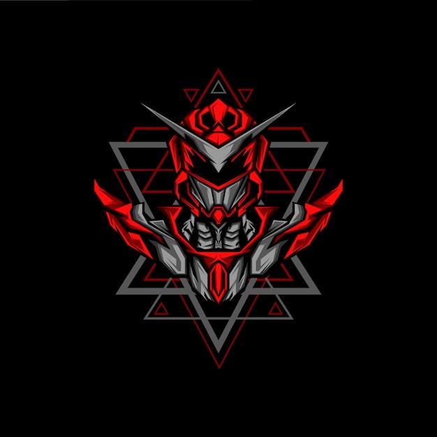 Геометрия красных рейнджеров Premium векторы