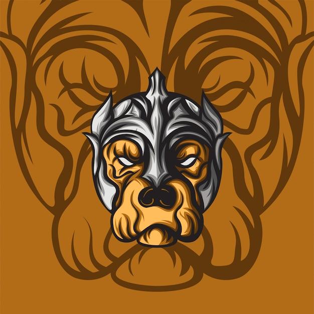 Старый пёс король Premium векторы