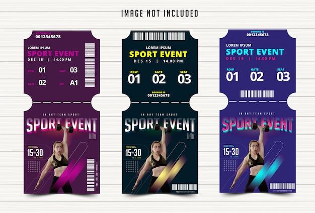 スポーツイベントチケット Premiumベクター