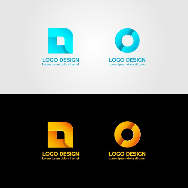 Креативный логотип письма Premium векторы