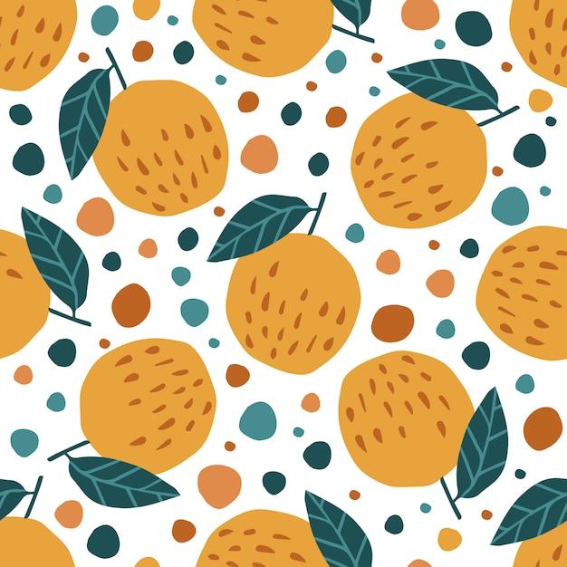 Современные яблоки и листья бесшовные узор на белом Premium векторы