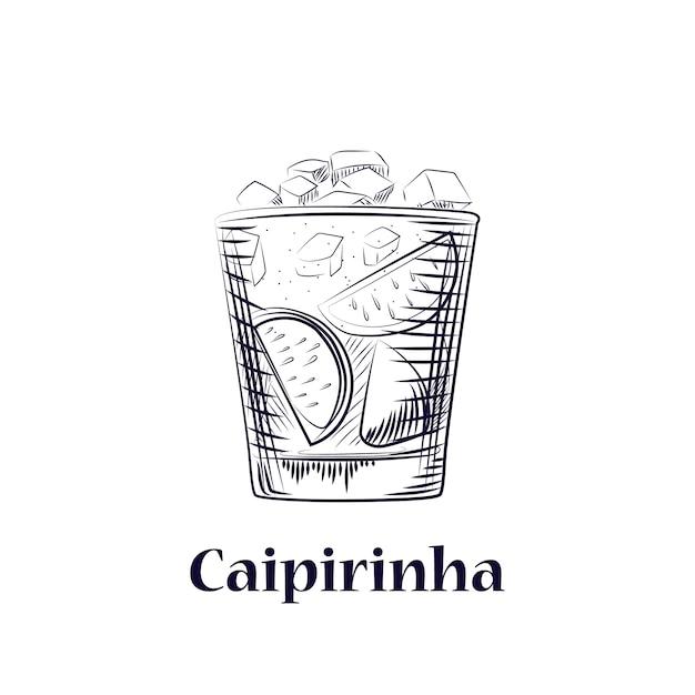 Нарисованный от руки эскиз коктейля Premium векторы