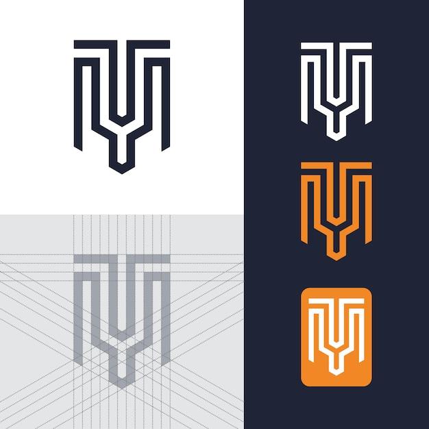 Шаблон письма тм логотип Premium векторы