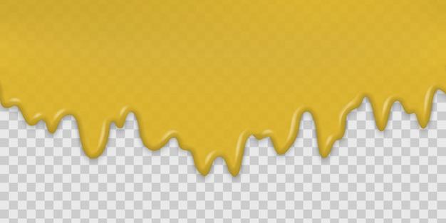 Медовый всплеск капает сладкие капли Premium векторы