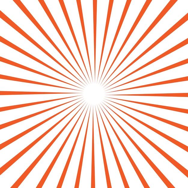 太陽光線のベクトルの背景 Premiumベクター