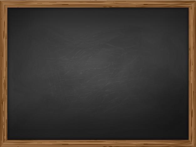 Школьная доска фоновой текстуры с рамкой Premium векторы
