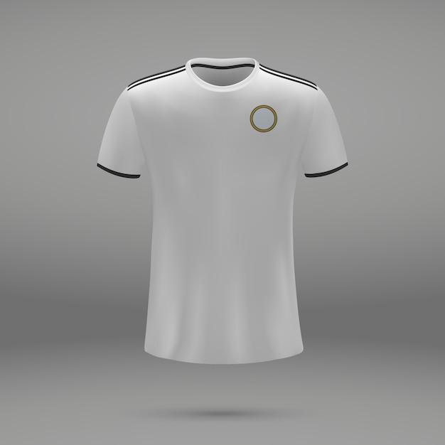 フットボールキットリアル、サッカージャージのシャツテンプレート Premiumベクター