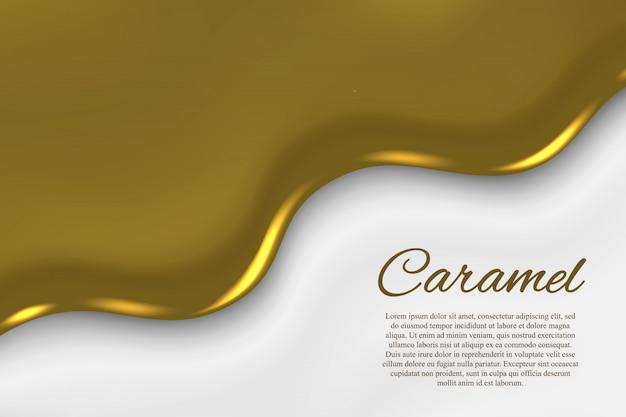 液体キャラメルの背景 Premiumベクター