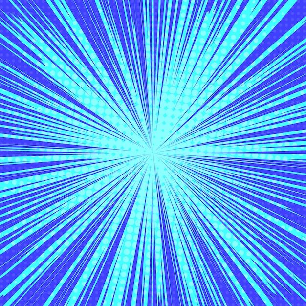Солнечные лучи поп-арт ретро фон Premium векторы