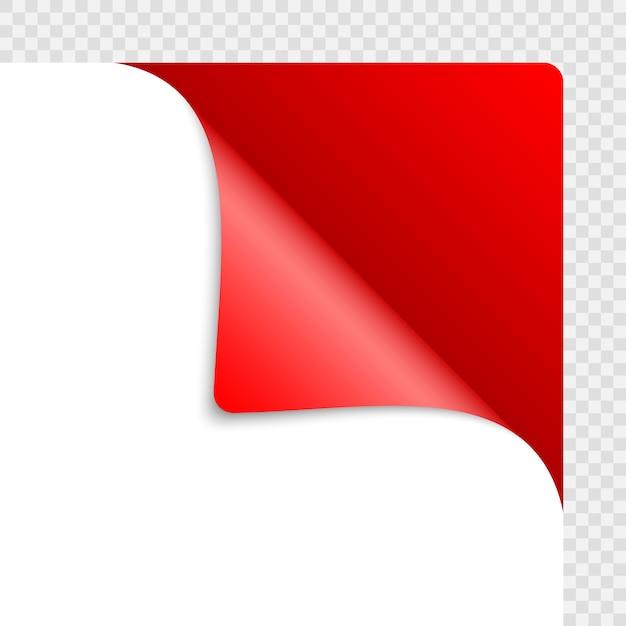 影と紙の丸まった角 Premiumベクター