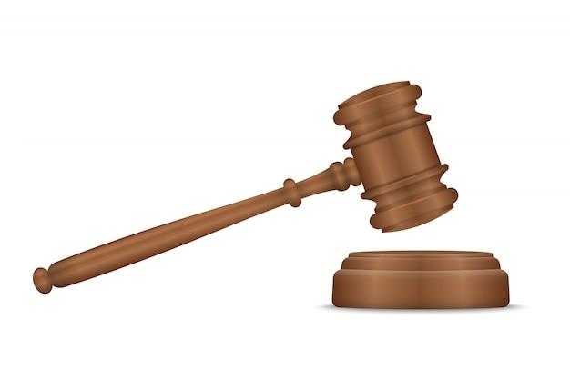 Судья молоток и деки Premium векторы