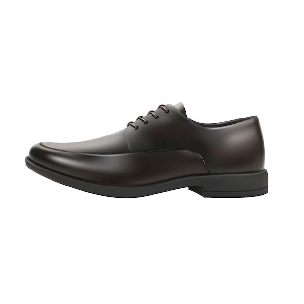 Реалистичная мужская обувь Premium векторы