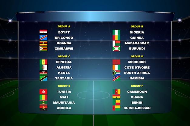 アフリカ諸国サッカーカップ Premiumベクター