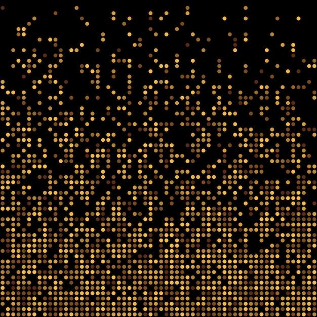 ゴールドディスコキラキラ背景。 Premiumベクター