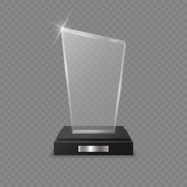 ガラストロフィー賞 Premiumベクター