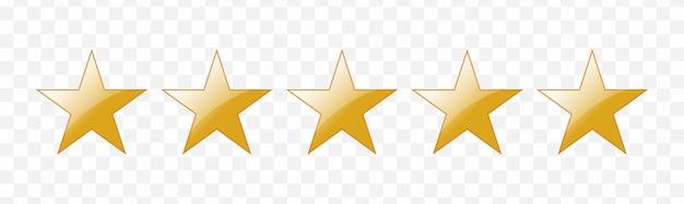 Пятизвездочный рейтинг Premium векторы