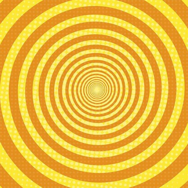 Спиральные лучи поп-арт ретро фон Premium векторы