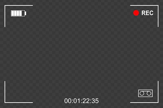 Фокус рамки экрана камеры Premium векторы
