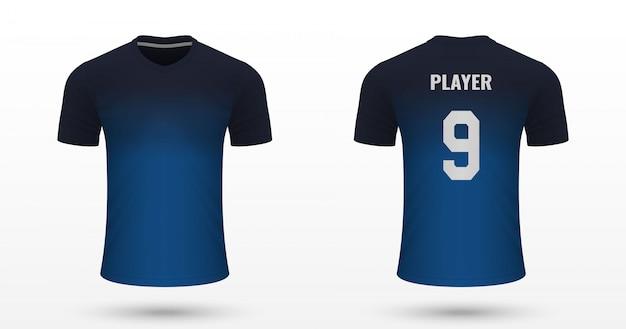 リアルなサッカーシャツ Premiumベクター