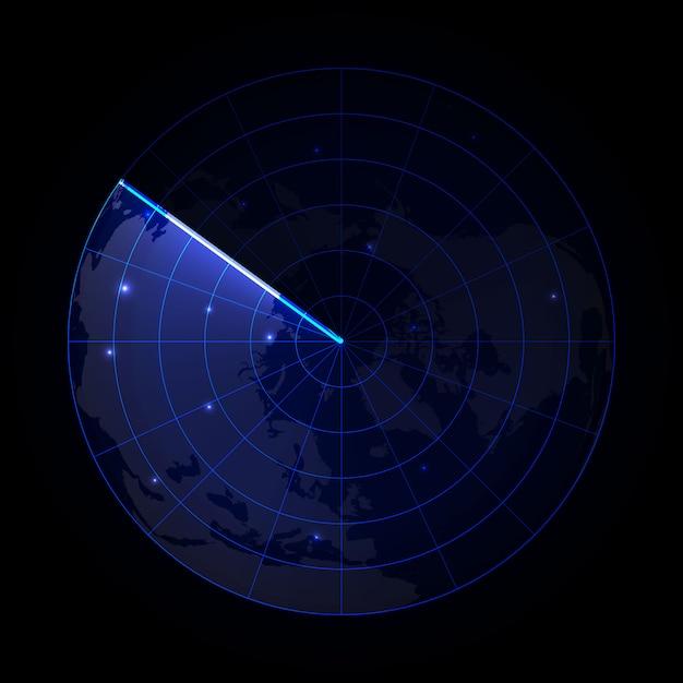 検索における現実的なベクトルレーダ目的のレーダースクリーン Premiumベクター