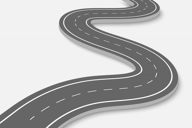 Извилистая дорога на прозрачной Premium векторы
