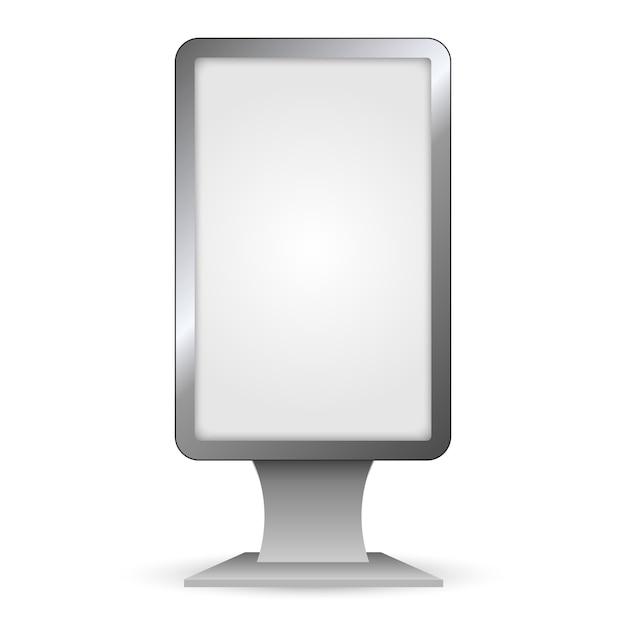 垂直屋外ライトボックス。市モックアップ形式。 Premiumベクター